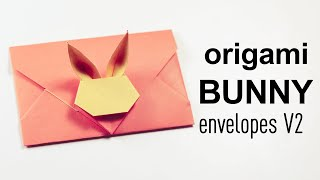 Origami Bunny Rabbit Envelope V2 Tutorial ♥︎ DIY ♥︎