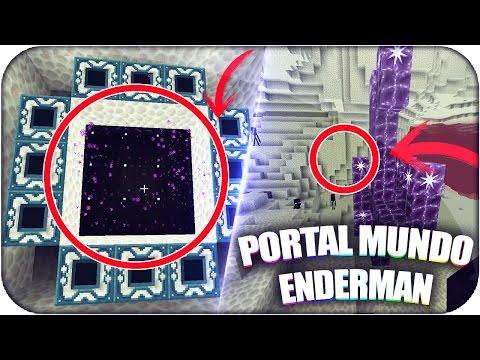 COMO HACER PORTAL AL MUNDO ENDERMAN EN MINECRAFT PE SIN MODS | TRUCOS MINECRAFT PE | PORTAL!