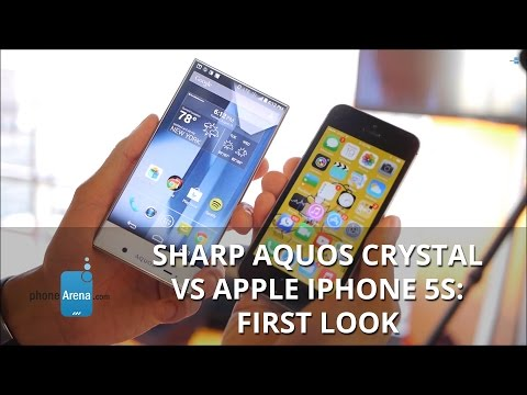 Sharp AQUOS Crystal vs Apple iPhone 5s: first look
