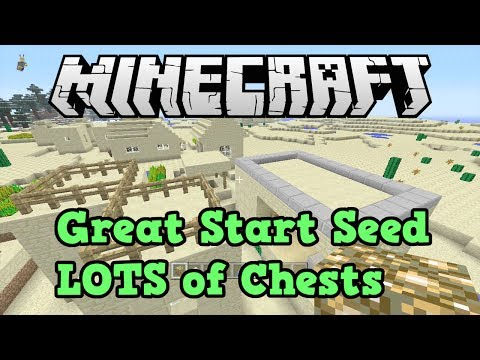 Minecraft Xbox 360 PS3 Seed 3 Blacksmith Chests 2 Desert Temples
