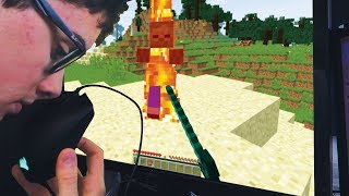 Beating minecraft using only my nose