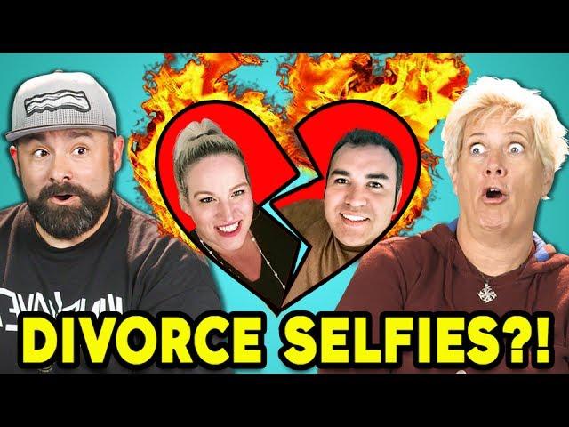 PARENTS REACT TO DIVORCE SELFIES (#DivorceSelfie)