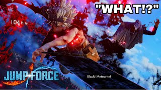 Making Spammers RAGE! Black Asta Gameplay Jump Force Online
