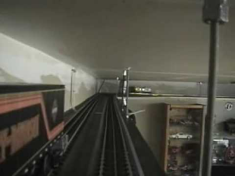 Mth Train O Scale Ceiling Layout In The Garage Youtube