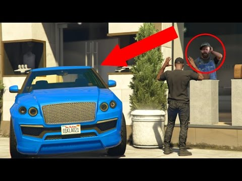 GTA 5 CAR TROLLING | TRAPPING PEOPLE IN STORES!