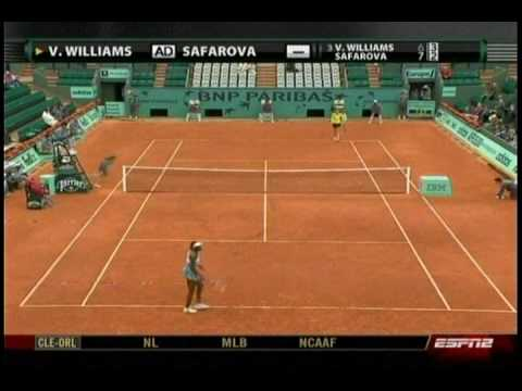 Venus Williams VS Lucie Safarova 3/10- French Open 2009- 2nd Round Video
