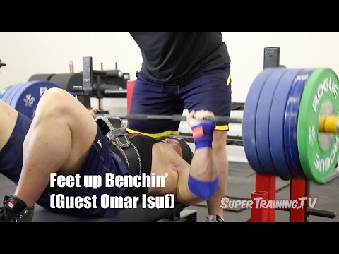 Feet Up Benchin' (guest Omar Isuf) | Mark Bell Commentary | Supertraining.tv video