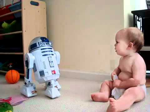 Baby Talks To R2D2
