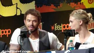 Liam McIntyre talks about Skirts & Gaia Weiss talks Sex Scenes at NYCC 2013