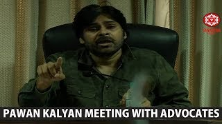 JanaSena Chief Pawan Kalyan Meeting with Advocates