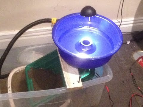 How To Make A Blue Bowl Fine Gold Recovery System With Catch Pan