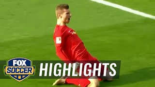 Timo Werner heads it in for RB Leipzig  | 2016-17 Bundesliga Highlights