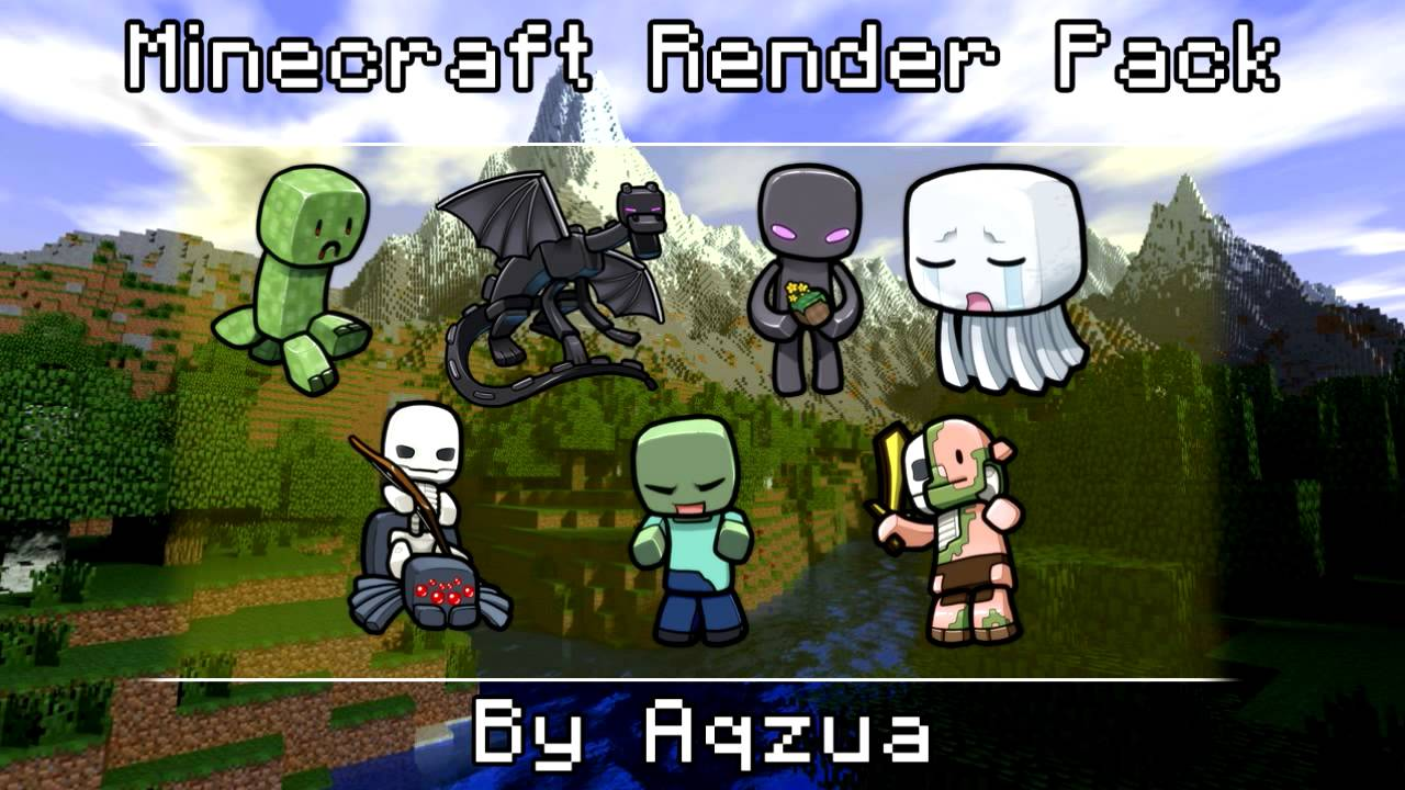 Comic Render Pack Minecraft Cartoon Renders Pack