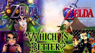Which Zelda Game is Better? Ocarina of Time Vs. Majora's Mask   Feat. ZeldaMaster