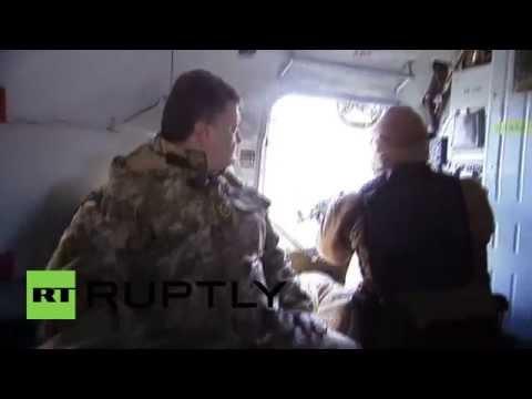 Ukraine: Poroshenko flies to Kramatorsk on election day