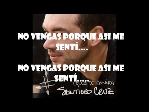 En tus zapatos - Santiago Cruz (Letra)