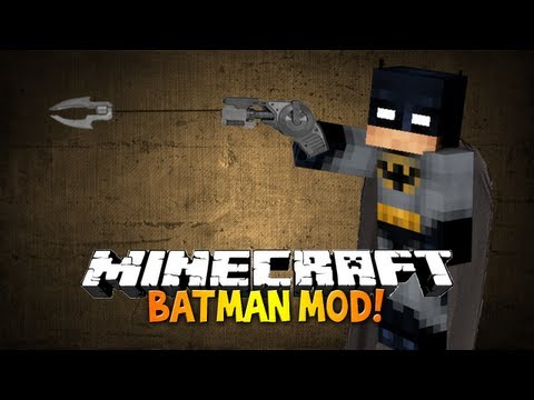 Minecraft: Batman mod - BE THE DARK KNIGHT! CAPE. GADGETS AND BOMBS!