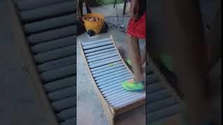 Homemade underwater treadmill