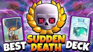 NEW BEST SUDDEN DEATH CHALLENGE WINNING DECK! | Clash Royale WINNING SUDDEN DEATH CHALLENGE GAMEPLAY