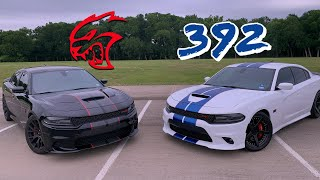 Just how loud are they?  SRT 392 VS. Hellcat