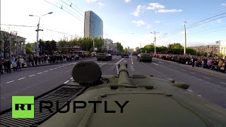 RAW: GoPro tank-cam films V-Day parade rehearsals