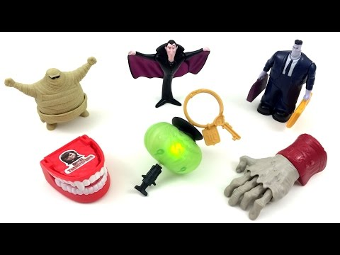 McDONALD'S HOTEL TRANSYLVANIA MOVIE COMPLETE SET OF 6 HAPPY MEAL KIDS TOYS REVIEW 2012 HT 2 2015