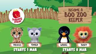 Unboxing McDonald Happy Meal - Boo the Zoo Keeper - Waddle