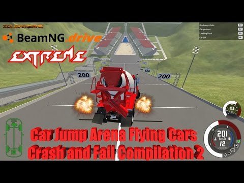 BeamNG Drive: Car Jump Arena Flying Cars Longer Best Etreme Crash and Fail Compilation 2