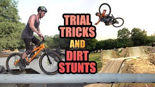 TRIAL BIKE TRICKS AND DIRT JUMP STUNTS