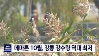 메마른 10월…강릉 강수량 역대 최저
