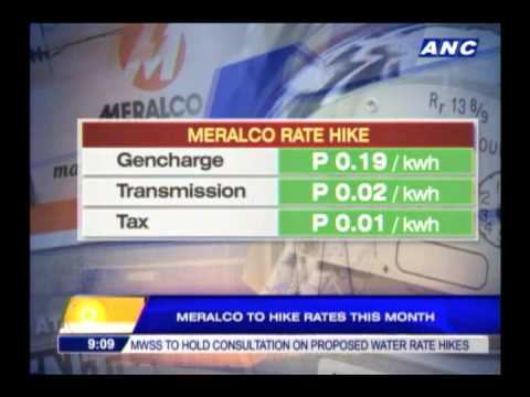 Meralco to hike rates this month