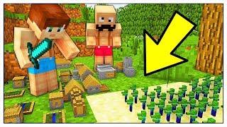 10.000 MINI ZOMBIE CONTRO IL NOSTRO MINI VILLAGGIO! - Minecraft ITA