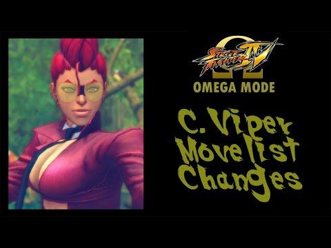 USFIV: Omega Mode - C Viper Move List Changes