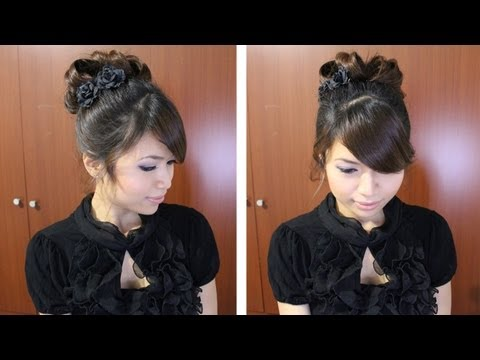Classic Prom Hairstyle Updo Pin Curly Hair Tutorial