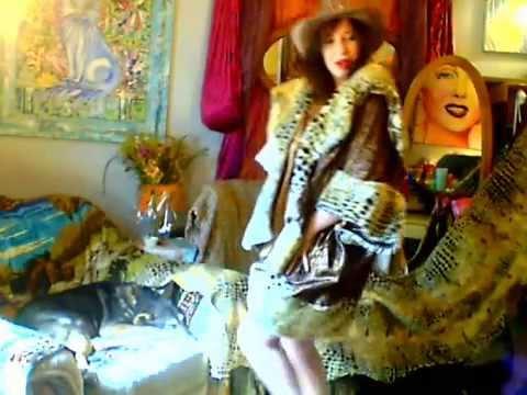 Sexy Beautiful Dance My Hande Made Coat Faux Fur,ladykashmir.webs Superstar Model, video