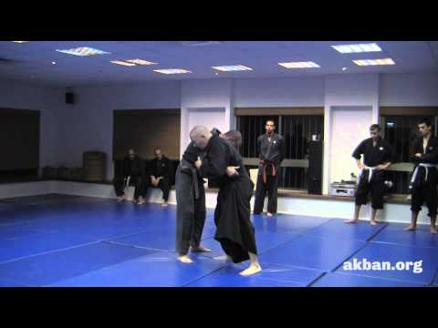 How to get out of clinch situations with 3 Ninjutsu throws - Ninjutsu training, AKBAN Image 1