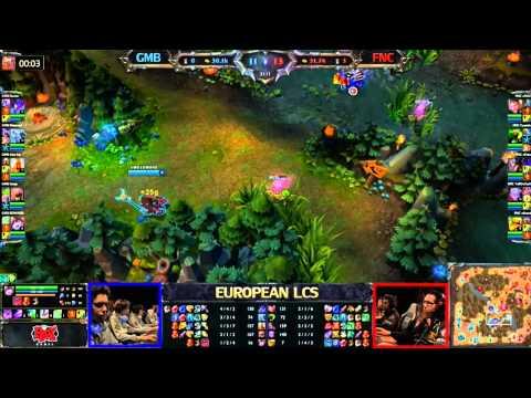Gambit Gaming vs Fnatic LCS 2013 Season 3 EU W6D1 FULL GAME