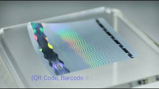 Custom Made Hologram Stickers with Logo & QR Code printing