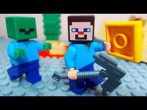 Lego Minecraft Brick Building Compilation Funny Stop Motion