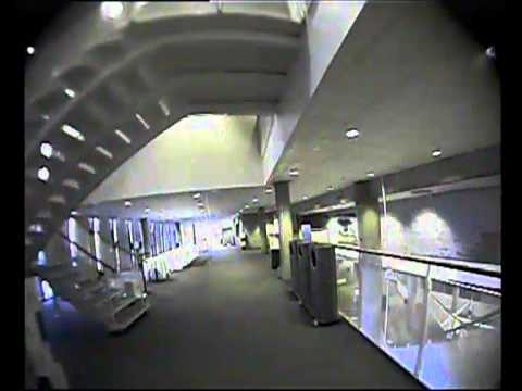 Micro Quadcopter indoor FPV flight at conference