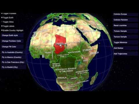 Custom Globe Markers and Line Animation Demo