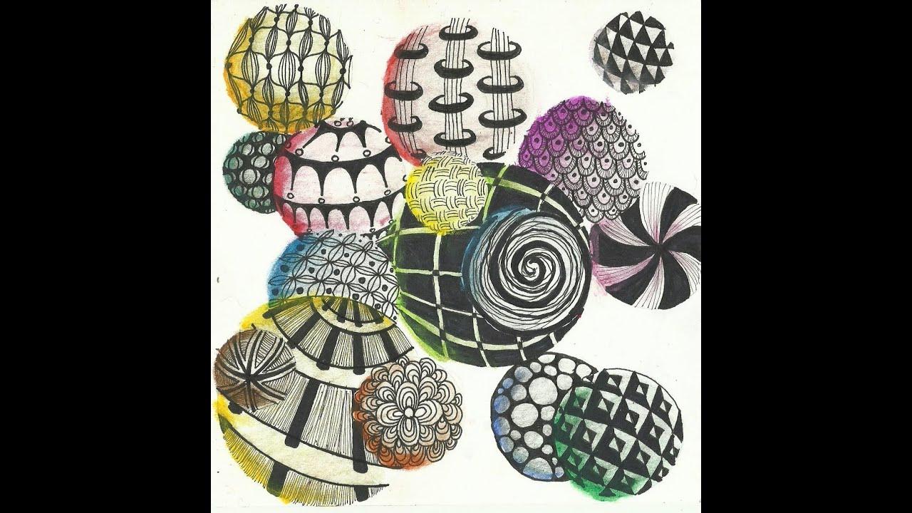 Zentangle Circles - YouTube