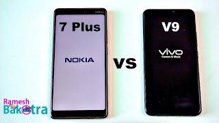 Nokia 7 Plus vs Vivo V9 SpeedTest and Camera Comparison 5.87 MB