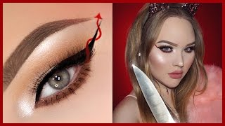 SCREAM QUEENS Red Devil Eyeliner - HALLOWEEN Makeup Tutorial