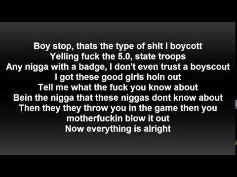 Logic - Alright Ft. Big Sean (Lyrics On Screen)