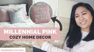 Cozy Textures and Millennial Pink Style | Home Decor Haul