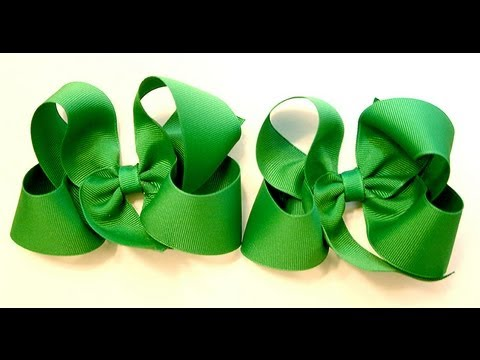 hair bow tutorial (HOW TO MAKE A TWISTED HAIR BOW) Classic Boutique Style bow