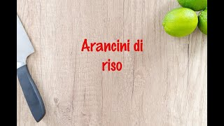 How to cook - Arancini di riso