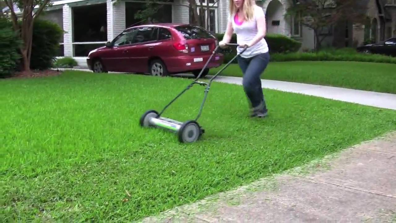 Deluxe Light Push Reel Lawn Mower Youtube