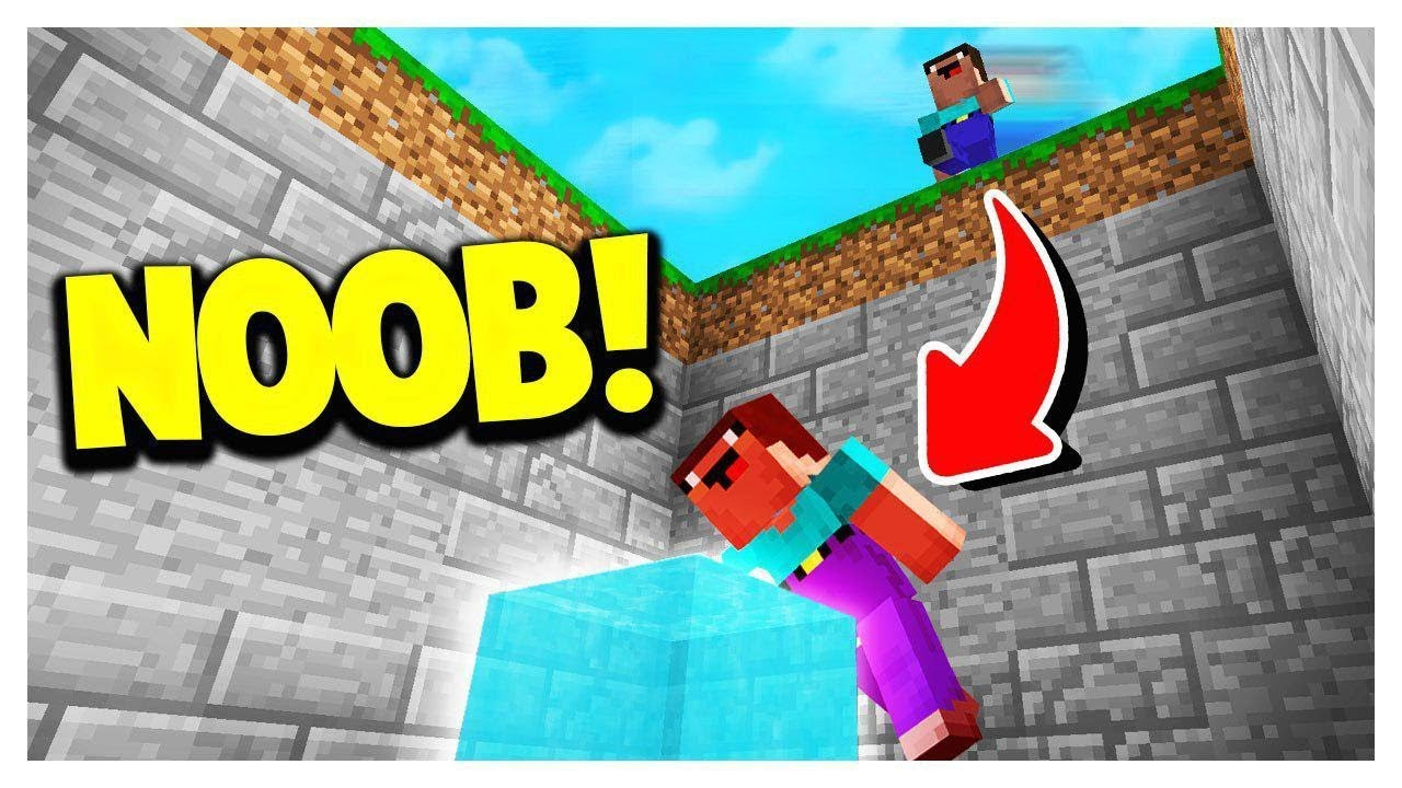 NOOB vs EASIEST MINECRAFT DROPPER MAP!